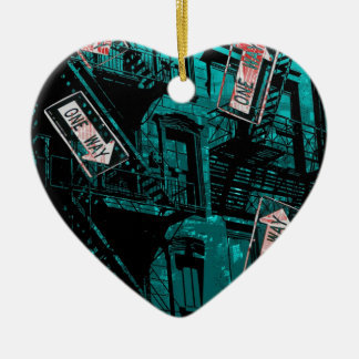 new york streets one way kerstboom ornament