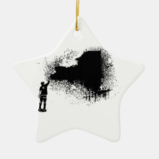 New York Tagger Keramisch Ster Ornament
