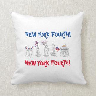 New York Vierde! Het Patriottische Hoofdkussen van Sierkussen