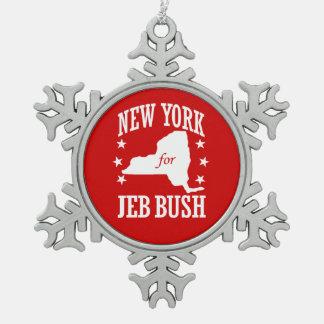 NEW YORK VOOR JEB BUSH TIN SNEEUWVLOK ORNAMENT