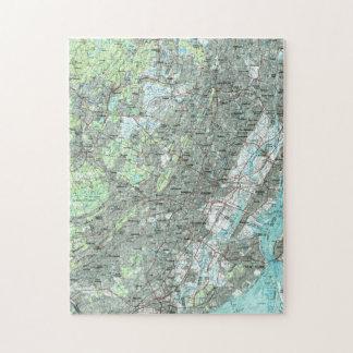 Newark NJ en de Kaart van Omringende Gebieden Legpuzzel