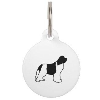 newfie silo witte zwarte huisdierpenning