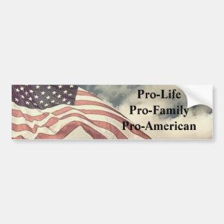 newflag2, pro-LifePro-FamilyPro-Amerikaan Bumpersticker