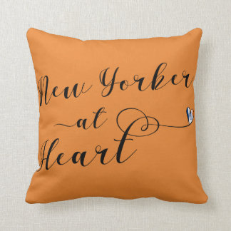 Newyorker bij Hart werpt Kussen, NYC Sierkussen
