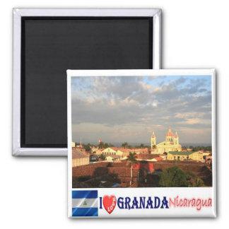 Ni - Nicaragua - Granada I Liefde Vierkante Magneet