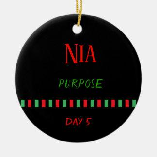 Nia - Kwanzaa Dag 5% het Ornament van pipe%