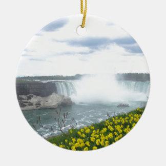 Niagara valt Canadese Kant Rond Keramisch Ornament
