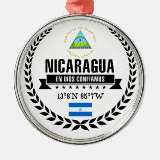 Nicaragua Zilverkleurig Rond Ornament