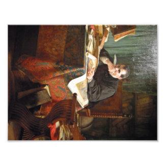 Niccolò Machiavelli in zijn studie, door Stephano Foto Afdrukken