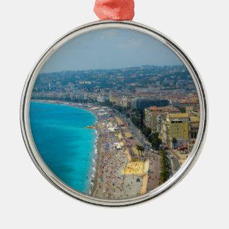 Nice Frankrijk in Franse Riviera wordt gevestigd Zilverkleurig Rond Ornament