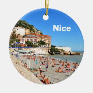 Nice. Franse Riviera Rond Keramisch Ornament