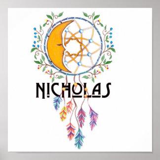 Nicholas Dreamcatcher Wall Art Poster