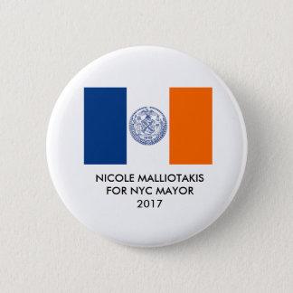 Nicole Malliotakis voor de Stad van New York Ronde Button 5,7 Cm