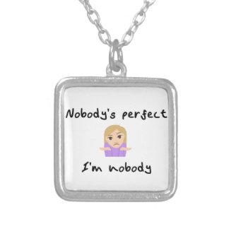 Niemand is Perfect - ik ben niemand Zilver Vergulden Ketting