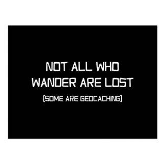 Niet Al wandelt Who wordt verloren (wat zijn Briefkaart