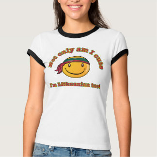 Niet alleen ben I leuk ik ben ook Litouws T Shirt