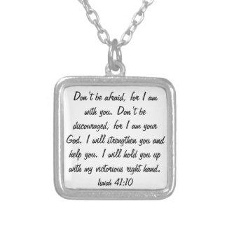 Niet bang ben want de God met u ketting is