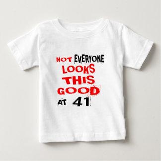Niet bekijkt Elk één Dit Goed 41 Verjaardag Desig Baby T Shirts