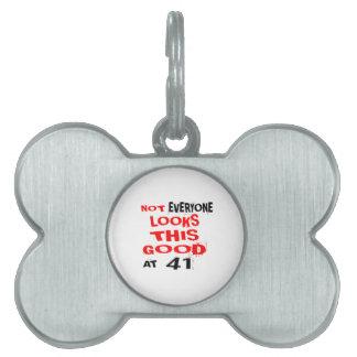 Niet bekijkt Elk één Dit Goed 41 Verjaardag Desig Huisdieren Naamplaatje