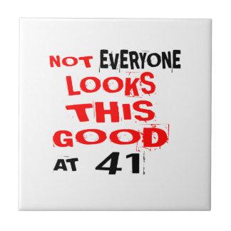 Niet bekijkt Elk één Dit Goed 41 Verjaardag Desig Tegeltje