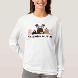 Niet bewoog een schepsel het Overhemd van Kerstmis T Shirt