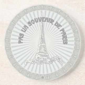 Niet een herinnering van Parijs Zandsteen Onderzetter