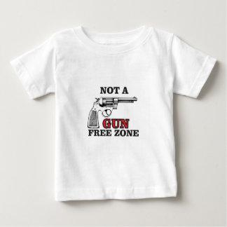 niet een label van de pistool vrije streek baby t shirts