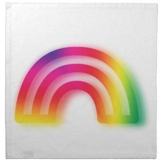 Niet één of twee, maar drie regenbogen! servet
