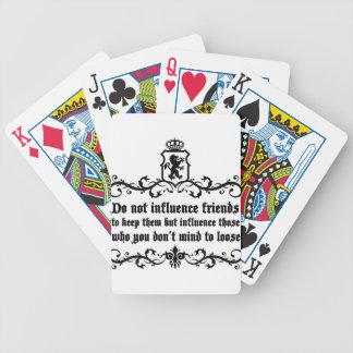 niet het citaat van Vrienden Influece Poker Kaarten