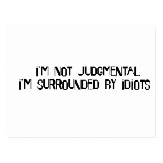 Niet Judgmental Briefkaart