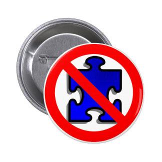 Niet meer Stukken van het Raadsel voor Autisme Ronde Button 5,7 Cm
