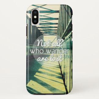 Niet wordt iedereen wie wandelen verloren iPhone x hoesje