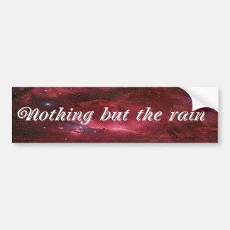 Niets dan de Regen Bumpersticker