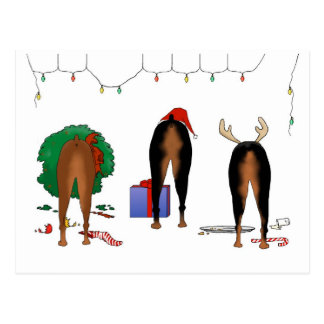 Niets steekt Kerstmis Doberman uit Briefkaart
