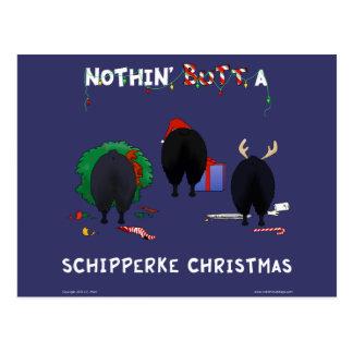 Niets steekt Kerstmis Schipperke uit Briefkaart