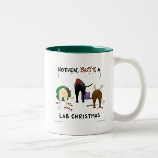 Niets steekt Kerstmis van het Laboratorium uit Tweekleurige Koffiemok