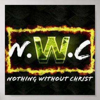 Niets zonder het Poster van Christus