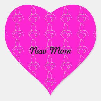 Nieuw baby hartvormige stickers