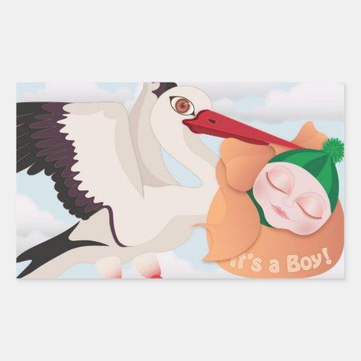 Nieuw Baby - het is een jongen - sticker