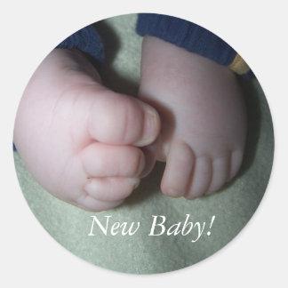 Nieuw Baby! Ronde Stickers