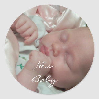 Nieuw Baby Ronde Stickers