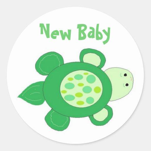 Nieuw Baby Ronde Sticker