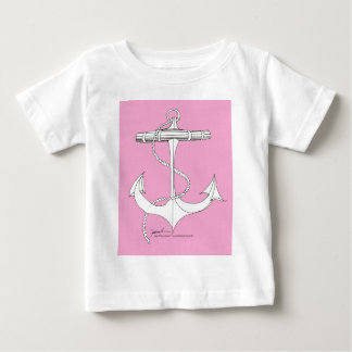 nieuw het ankerroze van tony fernandes baby t shirts