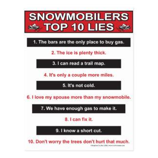 Nieuw-hoogste-10-leugen-groot-rood Briefkaart