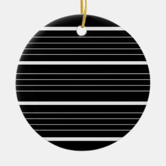 Nieuw Kerstmis modieus Ornament: zwart Rond Keramisch Ornament