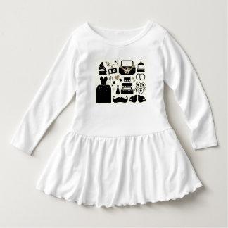 Nieuw kinder huwelijkscollectie: zwart wit baby jurk