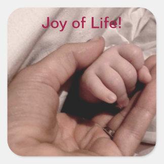 Nieuw Mamma en Baby - Vreugde van het Leven Vierkante Stickers