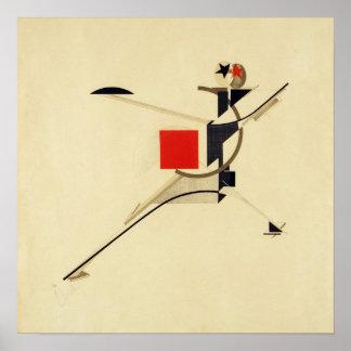 Nieuw Man door de Samenvatting van El Lissitzky Poster