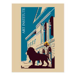 Nieuw Retro kunstinstituut adverteren Chicago Briefkaart