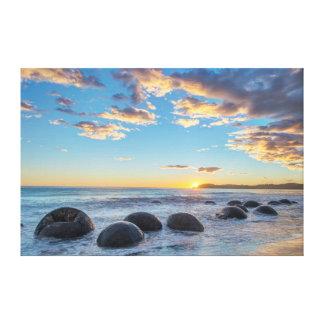 Nieuw Zeeland, het Eiland van het Zuiden, Keien Canvas Afdrukken